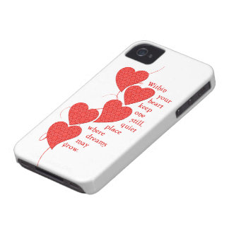 Pretty Red Hearts for Dreaming Case-Mate iPhone 4 Cases