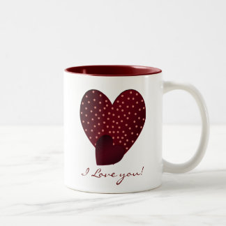 Pretty Red Hearts: I Love You Mug