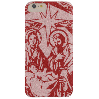 Pretty Red Nativity Barely There iPhone 6 Plus Case
