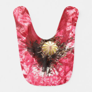 Pretty Red Poppy Flower Macro Bib