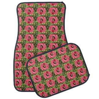 Pretty Red Poppy Flower Macro Car Mat Set
