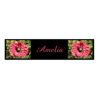 Pretty Red Poppy Flower Macro Custom Napkin Bands