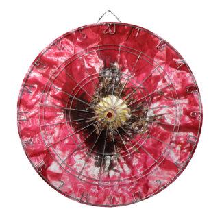 Pretty REd Poppy Flower Macro Dart Board