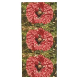 Pretty Red Poppy Flower Macro USB Flash Drive