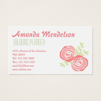 Pretty red roses on white background business card