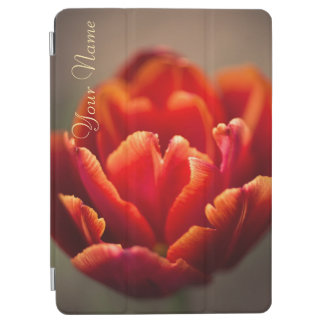 Pretty Red Tulip Petals. Add Your Name. iPad Air Cover