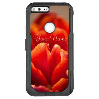 Pretty Red Tulip Petals. Add Your Name. OtterBox Commuter Google Pixel XL Case