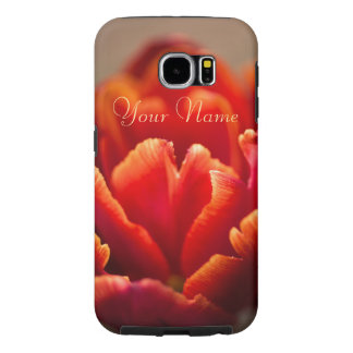 Pretty Red Tulip Petals. Add Your Name. Samsung Galaxy S6 Cases