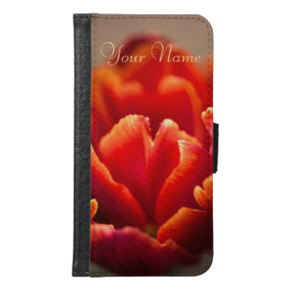 Pretty Red Tulip Petals. Add Your Name. Samsung Galaxy S6 Wallet Case