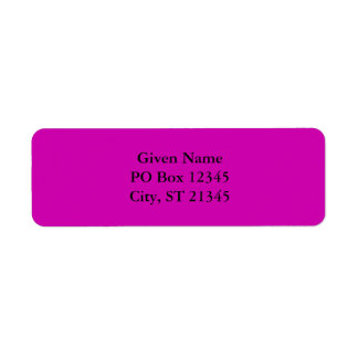 Pretty Red Violet Return Address Label