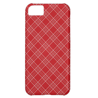 Pretty Red White Stripes Plaid Pattern Gifts iPhone 5C Case
