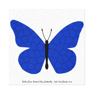 Pretty Reflex Blue Stained Glass Butterfly Canvas Prints