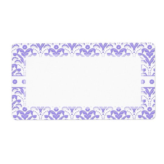 Pretty Retro 1930s Art Deco Purple Damask Pattern