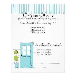 Pretty Robin's Egg Blue Door Flyer