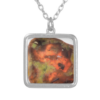 Pretty Rock Silver Plated Necklace