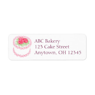 Pretty Rose Frosted Cake Label