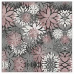 Pretty rose gold floral illustration pattern fabric