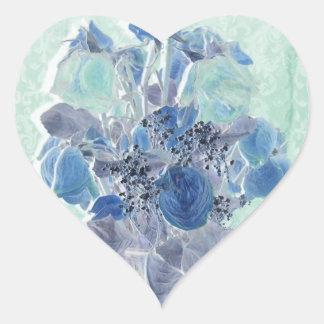 pretty rose heart sticker