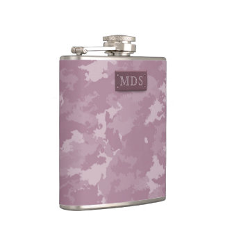 Pretty Rose Pink Camo Flask