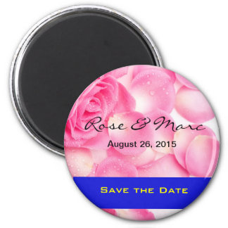 Pretty Rose Save the Date Magnet Fridge Magnets
