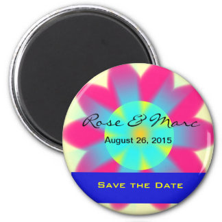 Pretty Rose Save the Date Magnet Refrigerator Magnets