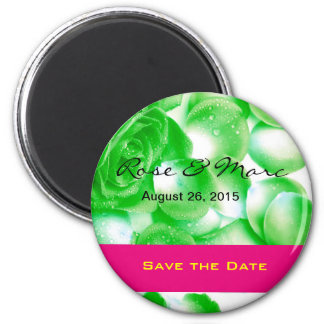 Pretty Rose Save the Date Magnet Magnets