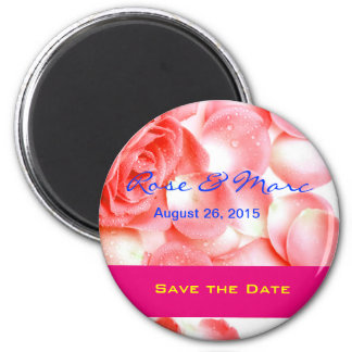 Pretty Rose Save the Date Magnet