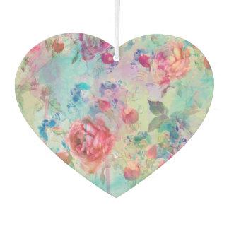 Pretty roses floral paint watercolors design car air freshener