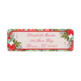 Pretty Roses Return Address Label