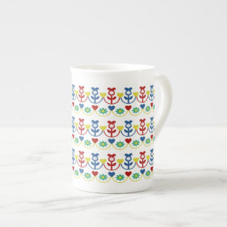 Pretty Rows of Flowers Tea Cup