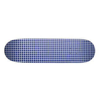 Pretty Royal Blue and White Gingham Check Pattern Skate Boards