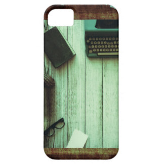 Pretty Rustic Aqua Book Typewriter Journal iPhone 5 Cover