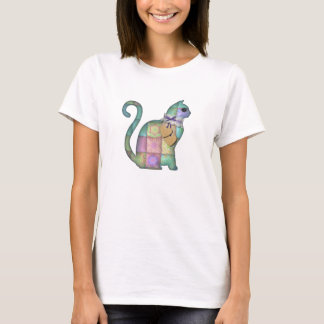 Pretty Scrapbook Kitten Graphic Women's T-Shirt