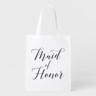Pretty Script Maid Of Honor Bag