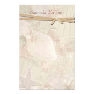 Pretty Seashell Personal Stationery