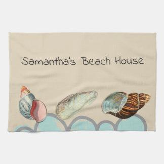 Pretty Seashells at the Beach Tea Towel