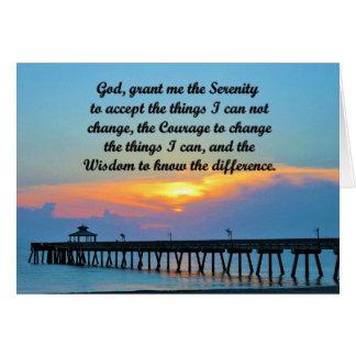 PRETTY SERENITY PRAYER GREETING CARD