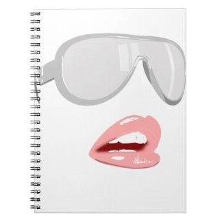 Pretty Shades & Lips Spiral Notebook