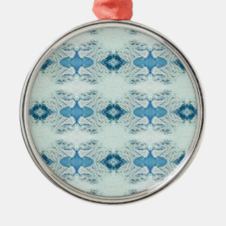 Pretty Shades of Blues In Modern Pattern Metal Ornament
