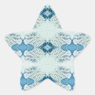 Pretty Shades of Blues In Modern Pattern Star Sticker