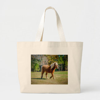 Pretty Shetland Pony Large Tote Bag