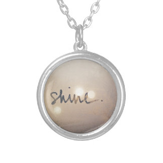 Pretty Shine Swag Round Pendant Necklace