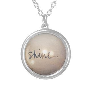 Pretty Shine Swag Round Pendant Necklace
