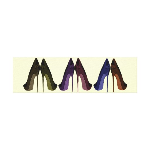 Pretty Shoes All In A Row Canvas Print