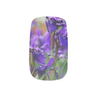 Pretty Siberian Iris Nail Sticker