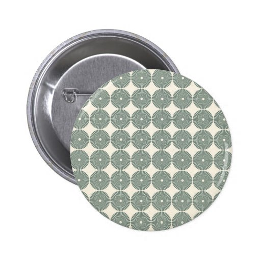 Pretty Silver Circles Pattern Disks Buttons