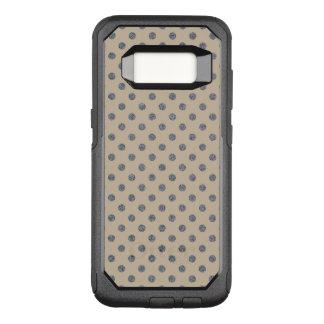 Pretty Silver Glitter Dots on soft Beige OtterBox Commuter Samsung Galaxy S8 Case
