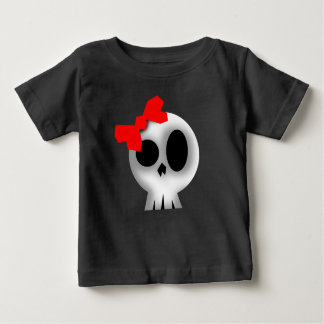 Pretty Skull with Red Bow Baby T-Shirt