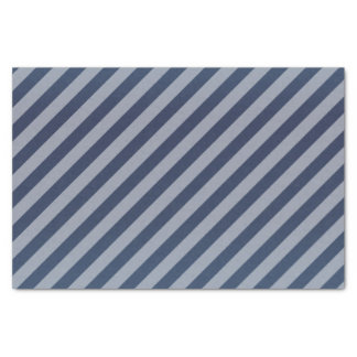 Pretty Slate Blue and Diagonal Stripes Tissue Paper