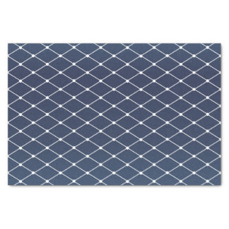 Pretty Slate Blue and Diamond Pattern Tissue Paper